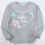 1183 H&M Knit Sweater with Sequins - Grey ขนาด 8-10 ปี
