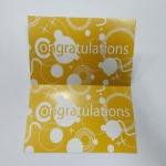 ป้ายอวยพร Congratualtions ป้ายของวัญ ป้ายห้อยสินค้าลายเหลืองขาว