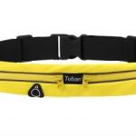 กระเป๋าคาดเอว กันน้ำ 2 ช่อง สีเหลือง