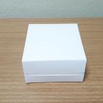 กล่องบราวนี่ 1 ชิ้น / กล่องขนมฟู้ดเกรด ขนาด 9.0 x 9.0 x 4.0 ซม.สีขาว
