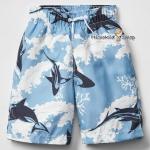 1028 Gap Kids Boys Shark Swim Trunks - Blue ขนาด 8, 14-16 ปี