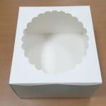 กล่องเค้ก กล่องเค้ก 3 ปอนด์ กล่องเค้กฟองดอง ทรงสูงพิเศษ กล่องขนม กล่องเบเกอรี่ กล่องคัพเค้ก สีขาว 26.5x26.5x15ซม.10ใบ/แพ็ค