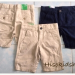 1680 Benetton Shorts - Navy Blue/Khaki ขนาด L(8-9)/XL(10-11) ปี