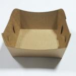 ถาดใส่ขนม/ถาดขนมปัง/ถาดชิม/ถาดอาหารฟู้ดเกรดคราฟท์น้ำตาล กว้าง 10.5 x ยาว 9.2 x สูง 4.2 ซม.