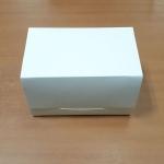 กล่องเค้กโรล / กล่องคัพเค้ก 2 ชิ้น / กล่องเค้ก 2 ชิ้น / กล่องขนม สีขาว กว้าง 16.8 x ยาว 9.0 x สูง 9.0 ซม.