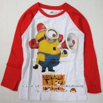 1128 H&M Minion Long Sleeve ขนาด 8-10 ปี