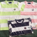 1025 Fred Perry T-Shirt - Navy Blue/Pink ขนาด 4-6,6-8,8-10 ปี