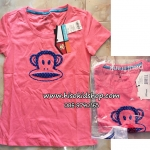 1048 Paul Frank T- Shirt - Pink เสื้อยืดเนื้อดีสีชมพู ขนาด S