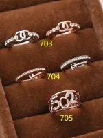 แหวนเพชรชุบทอง 18K สี Pink Gold