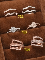 แหวนเพชรชุบทอง 18K สี Pink Gold สำเนา