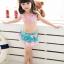 ชุดว่ายน้ำเด็กทูพีช ลายดอกไม้ ผูกหลัง สีชมพู เขียวมิ้นท์ พร้อมหมวก thumbnail 1