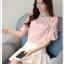 Preorder เสื้อทำงาน สีชมพู ปาดไหล่ แขนระบายสวย เนื้อผ้าใส่สบาย thumbnail 2