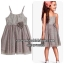 1089 H&M Tiulle Dress - Grey ขนาด 4-6 ปี