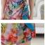 Pre-order ชุดทำงาน เดรสผ้าซาติน floral print ลายกุหลาย แต่งระบายช่วงสะโพก มีไซส์ใหญ๋ L-4XL thumbnail 11