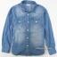 1120 GU Denim Shirt - Blue ขนาด 130 thumbnail 1