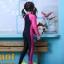 ชุดว่ายน้ำบอดีสูท เด็กผู้หญิง แขนยาว ขายาว สีชมพู ดำ thumbnail 2