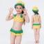 ชุดว่ายน้ำบิกินี ลายสัปปะรด สีเหลือง เขียว พร้อมหมวก thumbnail 1