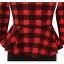 Pre-order ชุดทำงาน ชุดแซกลายตาราง สีแดงดำ Check Peplum dress มีไซส์ใหญ่ S - XXL thumbnail 4