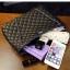 พร้อมส่ง กระเป๋าหนังแท้ สีดำ งาน Quilt สวย สายโซ่สะพายไหล่ thumbnail 16