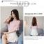 Preorder เสื้อทำงาน สีชมพู ปาดไหล่ แขนระบายสวย เนื้อผ้าใส่สบาย thumbnail 5