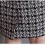Preorder ชุดทำงาน เดรสเข้ารูป แขนสามส่วน ลาย Chanel สีดำ ขาว แต่งซิปหน้า มีไซส์ใหญ่ S - XXL thumbnail 12