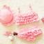 ชุดว่ายน้ำเด็ก ทูพีช สีชมพู มีระบายเป็นชั้นๆ พร้อมหมวก น่ารัก หวานๆ thumbnail 1