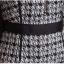 Preorder ชุดทำงาน เดรสเข้ารูป แขนสามส่วน ลาย Chanel สีดำ ขาว แต่งซิปหน้า มีไซส์ใหญ่ S - XXL thumbnail 10