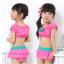 ชุดว่ายน้ำทูพีช สีชมพู เขียว แขนตุ๊กตา thumbnail 2