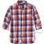 1268 H&M Cotton Shirt - Checked/Orange (งานแท้ 100%) ขนาด 8-9,9-10 ปี thumbnail 1