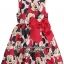 1103 H&M Patterned Dress - Red/Minnie mouse (ชน shop) ขนาด 6-8 ปี