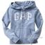 1674 Gap Kids Arch Logo Hoodies - Sky Blue ขนาด 8,10-11 ปี - ส่งฟรี ลทบ. thumbnail 1