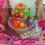 ของเล่นเด็กเค้กวันเกิดมีแสงเทียน มีเสียงร้องเพลง Happy birthday