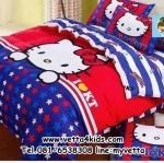ชุดผ้าปูที่นอนลายการ์ตูน 6 ฟุต 5 ชิ้นพร้อมนวมหนา ลายคิตตี้(Hello Kitty)