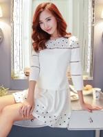 เสื้อผ้าแฟชั่นเกาหลี แบบ 2 ชิ้น (เสื้อ + กระโปรง) พร้อมส่ง