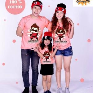 เสื้อครอบครัว Going To - Super Hero