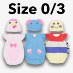 ชุด เด็กอ่อน mon OURS มีหมวก ไก่,ช้าง,หนอน Size 0/3
