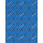 ผ้าลายไทย no.0010 สีฟ้า