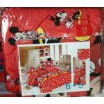 เซตผ้าปูที่นอน ลายมิกกี้เม้าส์ และมินนี่เม้าส์ (Micky & Minnie mouse) ขนาด 6 ฟุต 5 ชิ้น + ผ้านวมหนา เกรด B