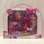 เซตตุ๊กตามายลิตเติ้ลโพนี่ 12 ตัว ขนาด 2 นิ้ว พร้อมการ์ดสะสม 12 ใบ : My Little Pony: Friendship Is Magic 12 Pony Collection Set