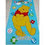 ผ้าขนหนูเช็ดตัว ขนาด 80 x 150 cm เนื้อผ้าฝ้าย ลายการ์ตูนหมีพูห์ (Winnie The Pooh)