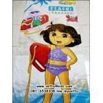 ผ้าขนหนูเช็ดตัว ขนาด 80 x 150 cm เนื้อผ้าฝ้าย ลายการ์ตูนดอร่า (Dora)