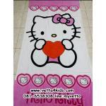 ผ้าขนหนูเช็ดตัว ขนาด 80 x 150 cm เนื้อผ้าฝ้าย ลายการ์ตูนคิตตี้ (Hello Kitty) สีชมพู