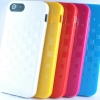 เคสไอโฟน5S/เคสไอโฟน5 เคส TPU ยืดหยุ่นสูง วัสดุเกรดA แบบทึบแสงโชว์ลายตารางบนผิวเคส (CI5-013)