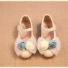 รองเท้าคัชชูเด็กแต่งดอกกุหลาบ สีครีมไชส์ 31 33 34