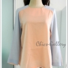 "FINAL SALE 60%  ""Sweety Pastel Top > Orange (Peach) - Soft Purple Blue"""