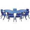 ชุดโต๊ะกิจกรรมพลาสติกเด็ก ทรงถั่วแดง