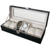 (preorder)กล่องใส่นาฬิกา ขนาด 30*11.5*7.5 cm หนังจระเข้ PVC สีดำ