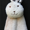 Lovely Rabbit Hand Towel (Brown)