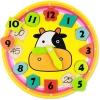 ของเล่นไม้นาฬิกาบอกเวลาและมีบอกนาที นาฬิกาน้องวัวน่ารัก