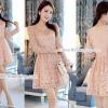 """Mini Dress ผ้าลูกไม้ขาว แขนยาวช่วงเอวตัดต่อผ้าเย็บจับจีบหน่อยๆ ทรงน่ารัก ดีเทลซิปซ่อนด้านหลัง มาพร้อมซับในในตัว อย่างดี ใส่ได้หลายโอกาสค่ะ สี : ตามแบบ ขนาด: >> รอบอก32-38"""" รอบเอว24-34""""สะโพก32-42"""" ยาว34"""""""